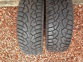 Two SUNNY Winter Grip 195 / 60R15 88T - Slightly used