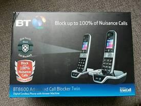 BT twin nuisance call blocker phones