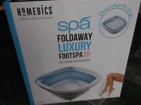 Footspa; collaplsible and with vibration massage facility