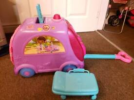 Doc McStuffins Get Better Mobile Talking Clinic Pulled And Has A Side Seat