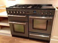 Rangemaster Toledo 110 Dual Fuel in gun metal grey