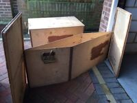 ex MOD packing crates