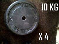 4 x 10 kg weight plates