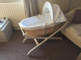 Moses basket excellent condition