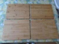 Bamboo Wood Veneer Placemats (Set 4) with coasters