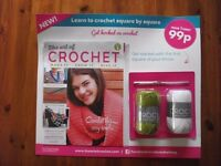 Lot of 3 Issues of The Art of Crochet Magazine including Hook, Yarns and Binder hobbies, crafts