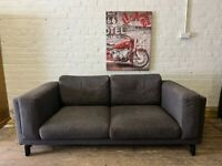 DESINGER GREY SOFA VERY NICE SMART NICE CONDIITION VERY COMFY + FREE DELIVERY MCR
