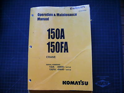 Komatsu 150a 150fa Operationmaintenance Manual Shop F