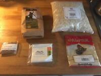 Various unopened and in-date food stuffs.