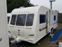 2011 Bailey Unicorn Barcelona Fixed Bed Twin Axle End Washroom Caravan with Alu Tech Body
