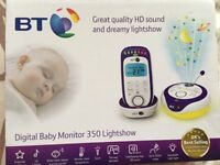BT 350 Digital Baby Monitor with Lightshow *BRAND NEW*
