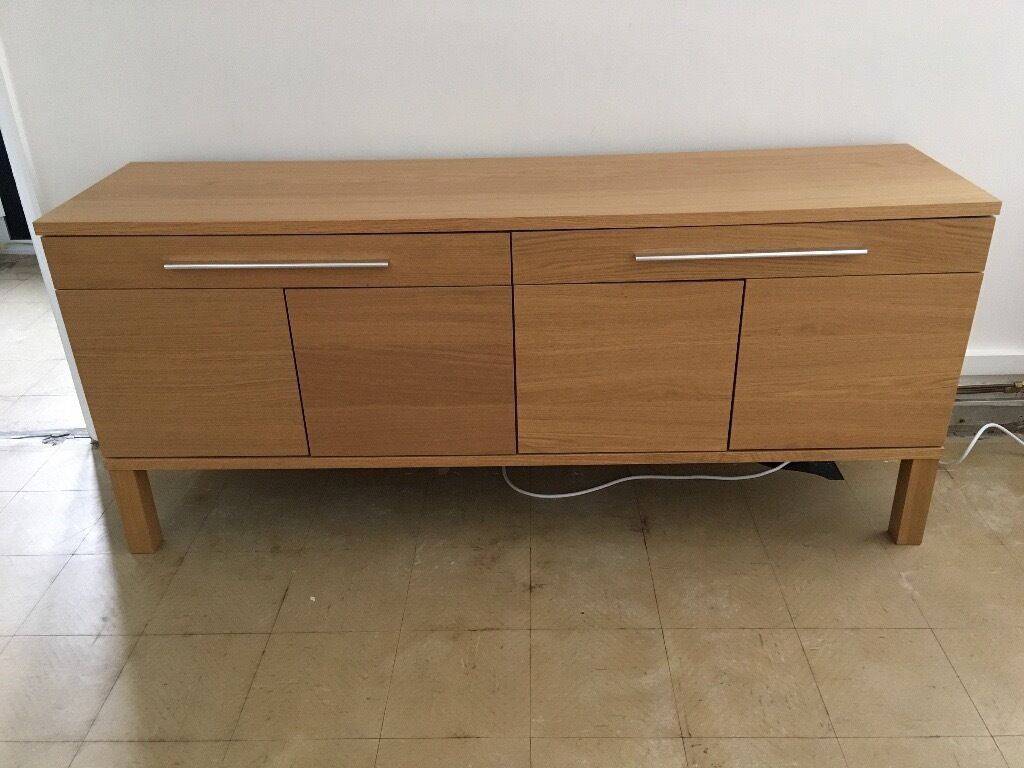 Ikea bjursta sideboard oak veneer in chester cheshire for Sideboard ikea
