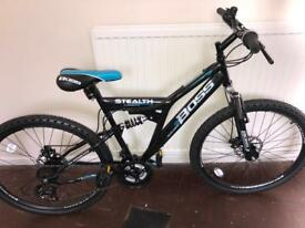 Boss stealth mountain bike. Brand new, hasn't been on the road. Retailing @ £220 +