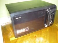 SHARP R 374 M 900 W Microwave Oven in Black