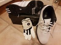 Male / unisex TRAXION Adidas golf shoes size 7