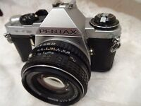 Pentax ME Super 35mm camera with Pentax 50mm F/1.7