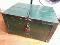 Vintage military storage trunk