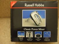 Russell Hobbs Classic Power Mixer with 2 beaters & 2 dough hooks (Brand New)