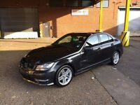 2012 12 MERCEDES-BENZ C250 AUTOMATIC AMG SPORT BLUEEF-CY DAMAGED SALVAGE REPAIRABLE