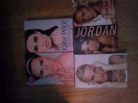 Katie price/ Jordan biographies set