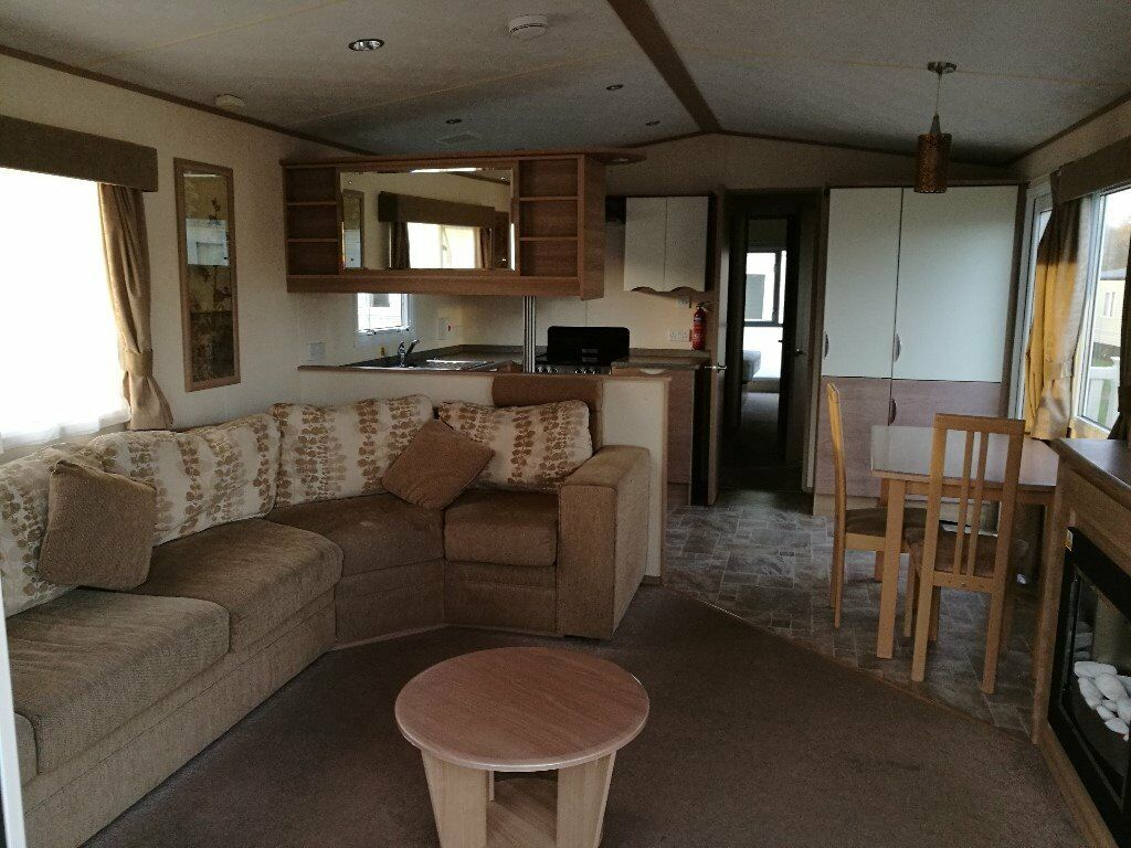 Holiday home, static caravan at Bashley in the New Forest, Hampshire BARGAIN ex-hire deck included.