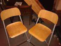 Breakfast Bar Stools , folding , Steel and Plywood ,very strong , folding ,good condition
