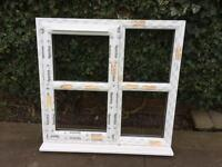 White pvcu window