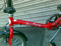 Folding bike bicycle JASPER red sold px tanx GT will delete soon see my other bike