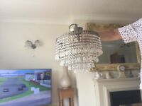 Two ceiling chandeliers
