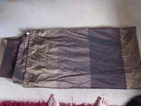 NEXT Shinto brown and gold eyelet curtains