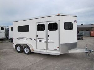 2016 Mission Trailers 2 HORSE STRAIGHT LOAD WITH DRESS Peterborough Peterborough Area image 1