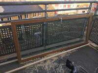 Toughened double glazed balcony doors