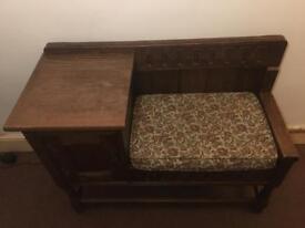 Telephone table seat