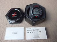(New with box) Casio G-Shock Watch Black G-7900-1ER, tide graph moon phase and 5 alarms