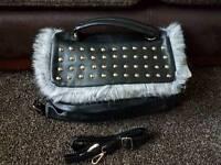NEW Handbag black fur
