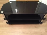 Lovely 3 Tier Black Glass Tint TV Stand for Just £7