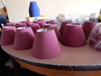 Lamp shades for wall lights blue and reds