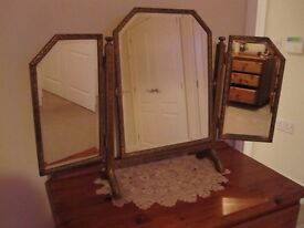Antique carved gilded wood mirror