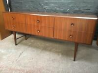Fabulous mid century Sideboard in lovely clean condition . Beautiful retro look.
