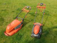 2 x flymo mowers & 1 hedge trimmer spares or repairs