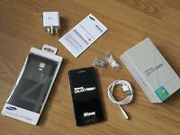 Samsung Note 4 Unlocked Charcoal Black 32GB with original case and fast charger not APPLE PIXEL HTC