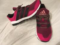 Women's size 7 pink Adidas running trainers