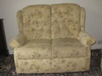 Small 2 seater sofa and matching armchair (will separate)