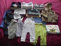 Baby boys 9-12 mths clothes bundle (40 items)