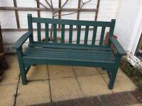 Lovely sturdy hardwearing oak garden bench