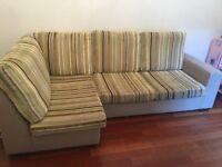 Designers guild fabric corner sofa- very good condition