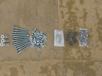 Assortment of bolts nuts and washers (some stainless steel)