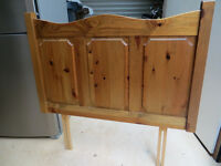Single bed pine wood headboard - great condition!