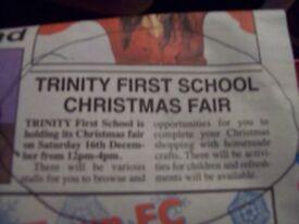 :-) TRINITY FIRST SCHOOL FROME **********CHRISTMAS FAIR*************