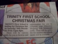 :-) TRINITY FIRST SCHOOL FROME **********CHRISTMAS FAIR*************